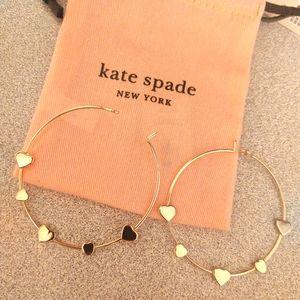 Heart hoop earrings , brand new super cute!!